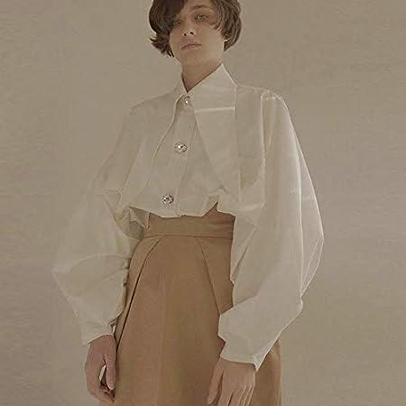 SETGVFG Camisa Blanca De Diamantes para Mujer Cuello De ...