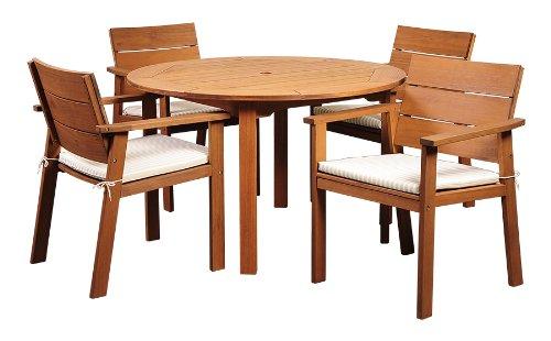 Amazonia 5-Piece Nelson Eucalyptus Round Dining Set
