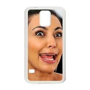 J-LV-F Customized Print kim kardashian Hard Skin Case Compatible For Samsung Galaxy S5 I9600