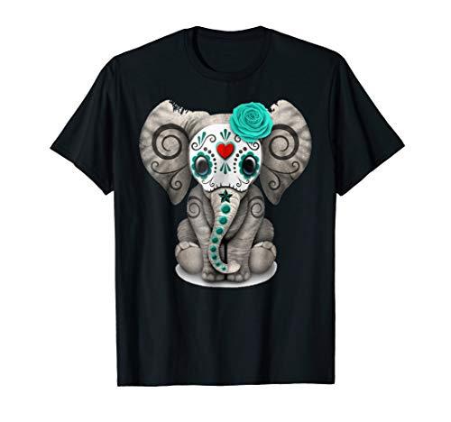 Sugar Skull Elephant Day Of The Dead TShirt