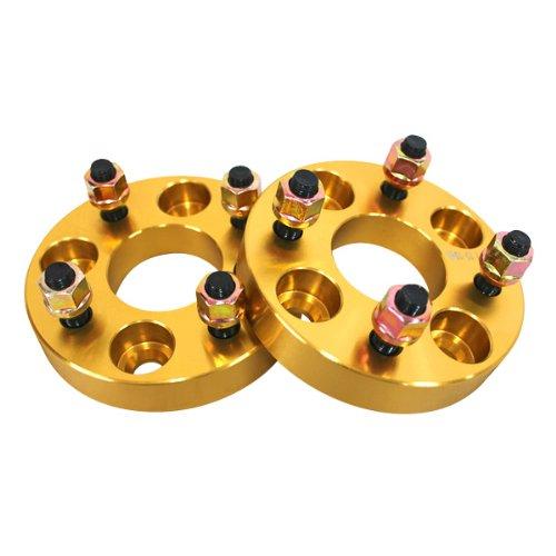 ワイドトレッドスペーサー ゴールド 2枚セット PCD100 4H M12×P1.25 厚さ25mm SPG0725 B00IY5GO9E