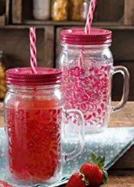 green mason jars with handles - 8