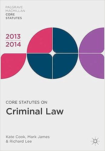 Core Statutes on Criminal Law 2013-14 (Palgrave Macmillan Core Statutes)