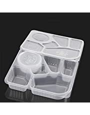 Take Out Food Containers Microwaveable 6 Compartment Microwaveable Disposable Leak and Grease Resistant Food Containers (150 pcs per Box)