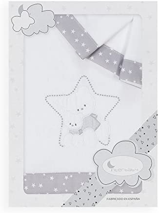 Estrella beige Danielstore S/ábanas Cuna Franela 100/% algodon