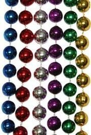 Bulk Mardi Gras Beads 33in 7mm 6 Assorted Colors 60 dozen (720) necklaces