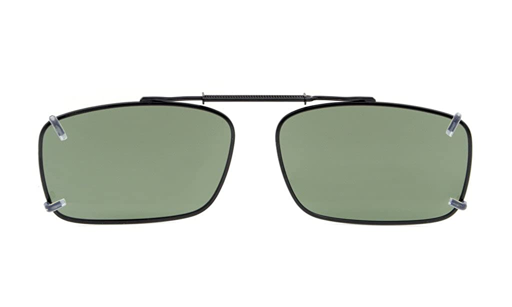 Eyekepper metallo Cerchiato polarizzata lenti clip su occhiali da sole 54 34MM