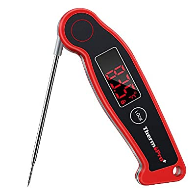 ThermoPro TP19 Waterproof Digital Meat Thermometer for Grilling with Ambidextrous Backlit & Thermocouple Instant Read…