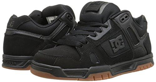 DC Men's STAG Shoe, Black/Gum, 9 D US