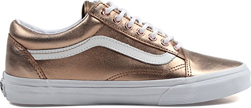 Vans Männer Old Skool Core Classics (Metallic) Rose Gold / True White