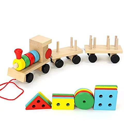 Rainbowkids Kids Disassembly Wooden Train Children's Educational Toys Tasteless Develop Logical Thinking Ability,imagination Eye-hand Coordination - Magnetic Tiling Toy