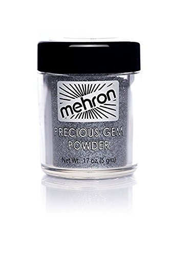 Mehron Precious Gem Glitter Powder 0.17 Oz | Silky, Bright Colors, Shimmering & Sparkling Loose Eyeshadow | For Face, Body & Nails | Add Intensity, Improve Looks & Create Dramatic Effect (Black Onyx)