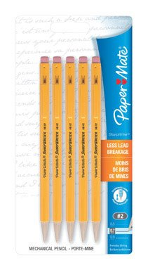 Paper Mate Sharpwriter Mechanical Pencils, 0.7mm 5 ea