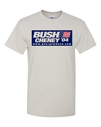 Bush Cheney 04 Republican George W 2004 Light Grey T-Shirt (Light Grey, 5XL)