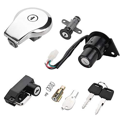 KIMISS Motorcycle Ignition Switch Fuel Gas Cap Seat Lock Keys for Yamaha Virago XV535 XV250 XV125