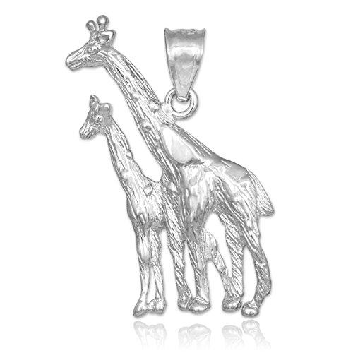 10 ct 471/1000 Or Blanc Girafe Pendentif