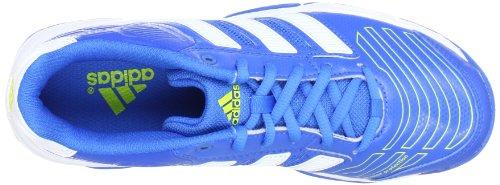 adidas Performance Court Stabil 2 xJ G60061 Unisex-Kinder Hallenschuhe Blau (BRIGHT BLUE F12 / RUNNING WHITE FTW / LAB LIME F12)