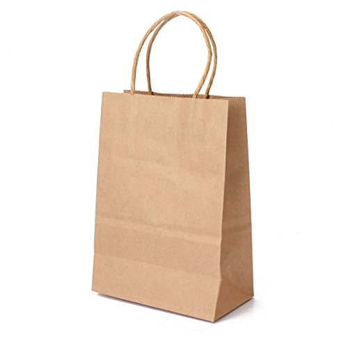 Flexicore Packaging 10''x5''x13'' - 50 Pcs Brown Kraft Paper Bags. 95% POST CONSUMER MATERIALS & FSC CERTIFIED by Duro