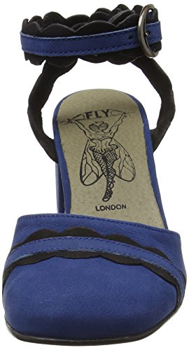 Fly London Damen Pompes Trip938fly Blau (bleu / Noir 004)