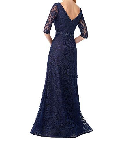 Navy Navy Festlichkleider 2018 Promkleider A Blau Brautmutterkleider Blau Lang Charmant Linie Damen Rock Abendkleider xEY7wq