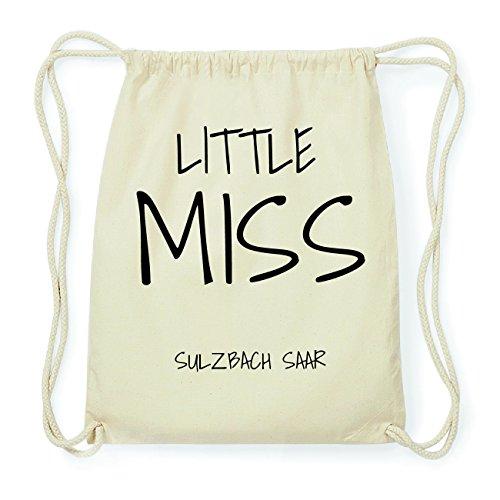 JOllify SULZBACH SAAR Hipster Turnbeutel Tasche Rucksack aus Baumwolle - Farbe: natur Design: Little Miss