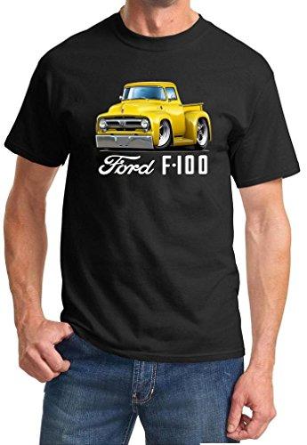 1953 Ford F100 F-100 Pickup Truck Full Color Design Tshirt 2XL Black