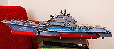 3D Puzzle Game Aircraft Carrier Excellent Display Model for Home or Office teen adults students birthday gift 103 pieces Environment Friendly Cardboard construction Building assembling toy
