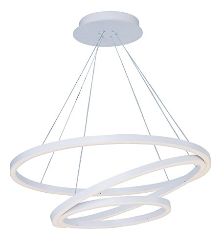 Cirque Collection Pendant (Pendants 1 Light With Matte White Finish Acrylic and Aluminum LED Bulb 32 inch 100 Watts)