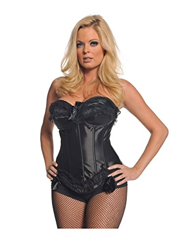 [Underwraps Women's Black Laced Bustier, Black, Large] (Victorias Secret Costume Ideas)