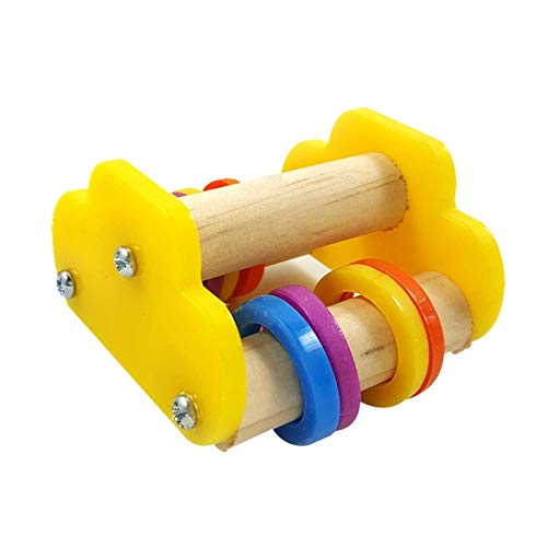 Parakeet Toy - Parrot Underfoot Education Toys Mini Skateboard Training Bird Ice Skates Roller Skate Toy - Rings Trapeze Macaw Tent Parrots Talking Noisemakers Bulk Cats African Swing Large C