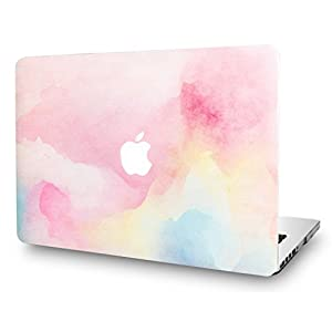 KEC MacBook Pro Retina 13 Inch Case (2015 old gen.) Plastic Hard Shell Cover A1502 / A1425 Oil Painting (Rainbow Mist)