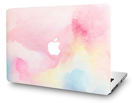 KEC MacBook Air 13 Inch Case Plastic Hard Shell Cover A1369 / A1466 (Rainbow Mist)