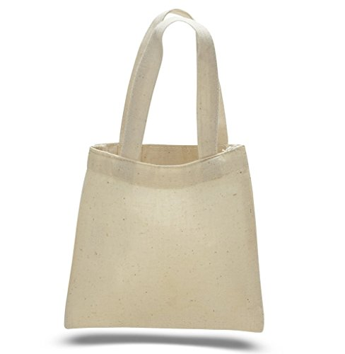 SHOPINUSA Buy Bulk  Cotton Canvas Mini 6' X 6' Tote Bag,Gift