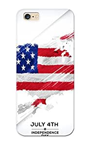 Inthebeauty Durable 4th Of July Independence Day Back Case/ Cover For Iphone 6 Plus For Christmas