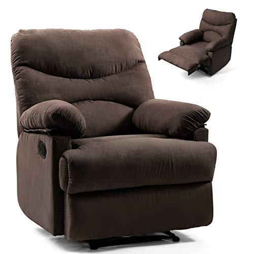MB-Officestar Chocolate Lazy Massage Recliner Chair Zero Gravity Full Body Heat ()