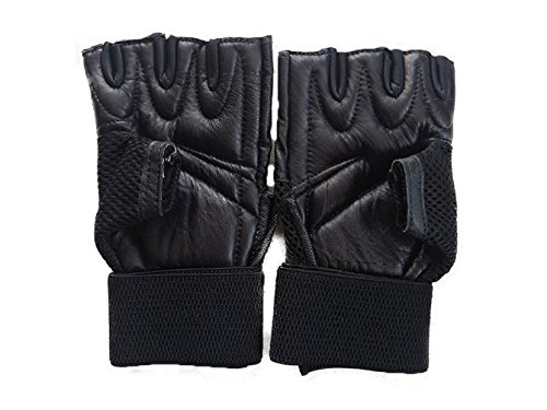 JetFire Gym Gloves Pure Leather | Weight Lifting Gloves with 12″ Wrist Wraps Support for Gym Workout, Crossfit, Weightlifting, Fitness & Cross Training – The Best for Men & Women Price & Reviews