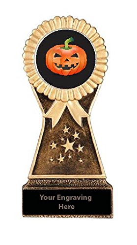 Resin Stand Halloween Pumpkin Carving Trophies (7