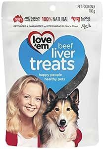 love'em Beef Liver Treats 100g, 1 Pack