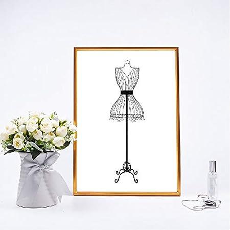 RQJOPE Pintura Arte Lona Impresión de Costura Moda Arte de la ...