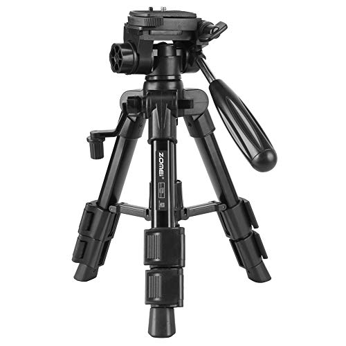 (ZOMEI Q-100 Tabletop Tripod 12.5inch Lightweight Aluminum Mini Travel Tripod with 360° Rotating Pan Head for Tablet Camera Canon EOS Sony Nikon Samsung Fuji)