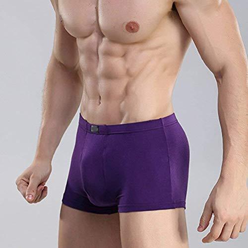 Violett Elastico Uomo Morbido Comode Di Colore Abiti Mutandine Ginnastica Solido Mutande Taglie Moda Traspirante Da Pantaloncini Zw1q5g