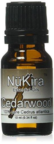NuKira Cedarwood Essential Oil, Atlas, 0.34 Ounce