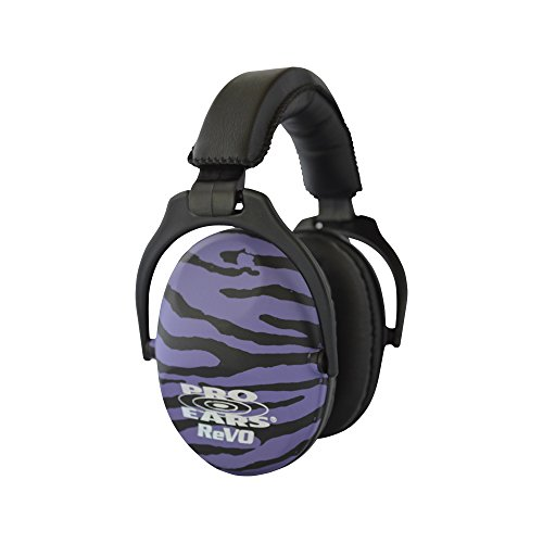 aring Protection - NRR 25 - Youth and Women Ear Muffs - Purple Zebra ()