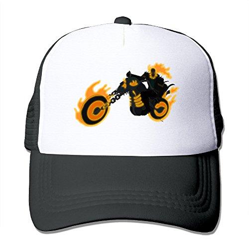 [ACMIRAN Ghost Rider Unisex Mesh Hat One Size Black] (Dragon Warrior King Adult Mens Costumes)
