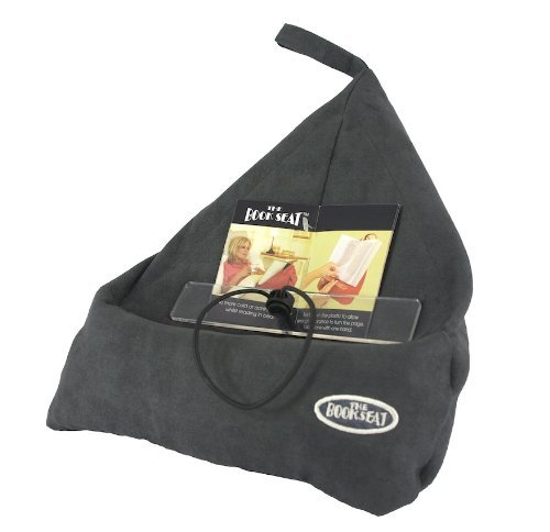 The Book Seat - Book Holder and Travel Pillow - Grey (For Reading Pyramid Pillows)