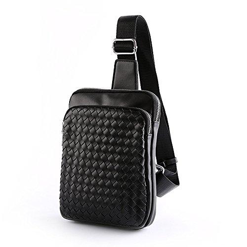 Sac noir Multifonction À Cuir En Dos Mode Sports Plein Hommes Pu Bandoulière Épaule Air Pour Casual De aWazrqH