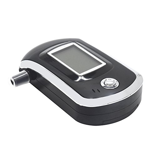 Breathalyzer, Portable Breath Alcohol Tester, Digital Battery Power Alcohol Detector with Mini Blow Pipe and LCD Display