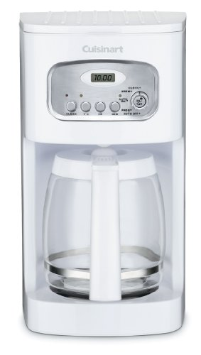 Mr Coffee White Coffee Maker - Cuisinart DCC-1100 12-Cup Programmable Coffeemaker, White
