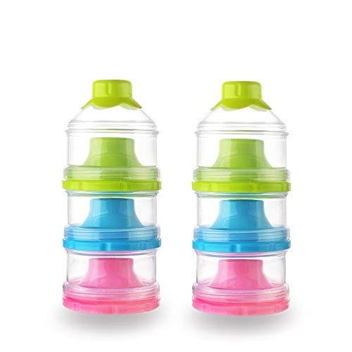 Baby Milk Powder Formual Dispenser, Non-Spill Stackable Snac