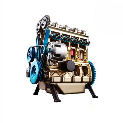 aikeec Details About Metal Assembled Four-Cylinder Inline Gasoline Engine Model KIT Birthday Gift